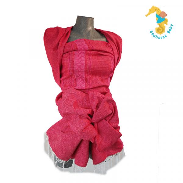 Fular rojo sandia con bordado