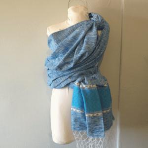 fular artesanal seahorse sea blue