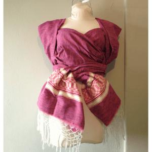 Fular purple pink